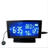 4 Trong 1 Kỹ Thuật Số Nhiệt Kế Đo Độ Ẩm trạm thời tiết Đồng Hồ Báo Thức nhiệt độ đo LCD Đầy Màu Sắc Lịch Vioce-kích hoạt