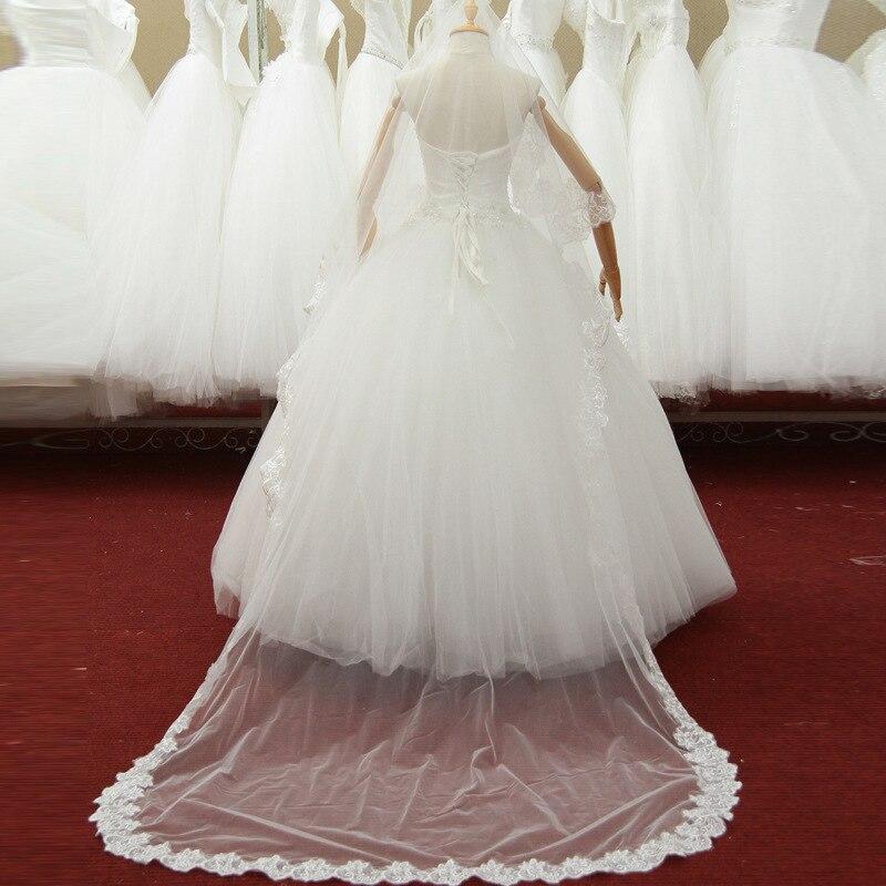 475f3b8ca 2016 recién llegado de blanco una capa de encaje Edge velos de novia 3  metros 3 metros catedral largo velos de novia catedral velos de novia en  Velos de ...
