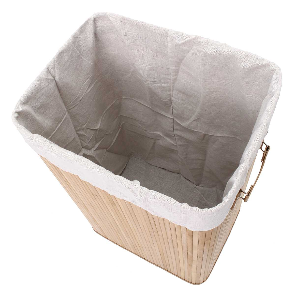 Bamboo Laundry Hamper Basket Dirty Clothes Storage Sorter Organizer Bin Lid US