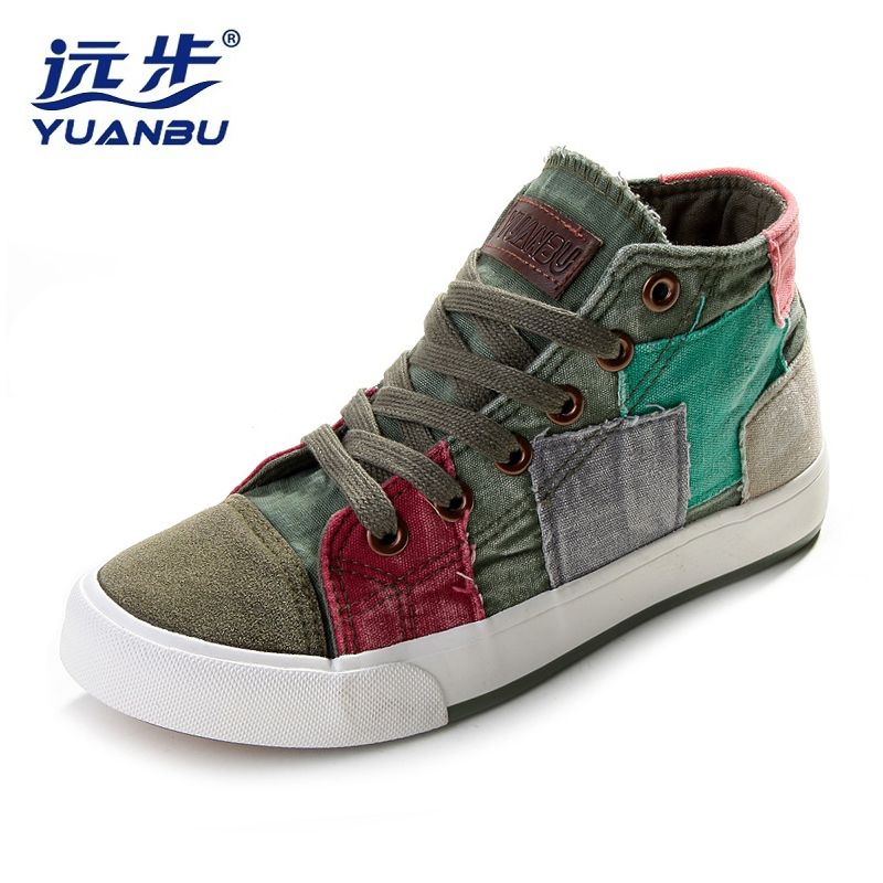 New Women Walking Shoes Women Sneakers Classic High Canvas Shoes for Women