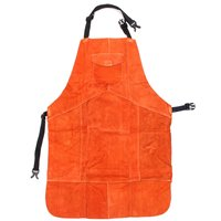 NEW Cowhide Leather Welding Protective Apron Heat Resistant Soldering Mechanic Smock Workplace Safety