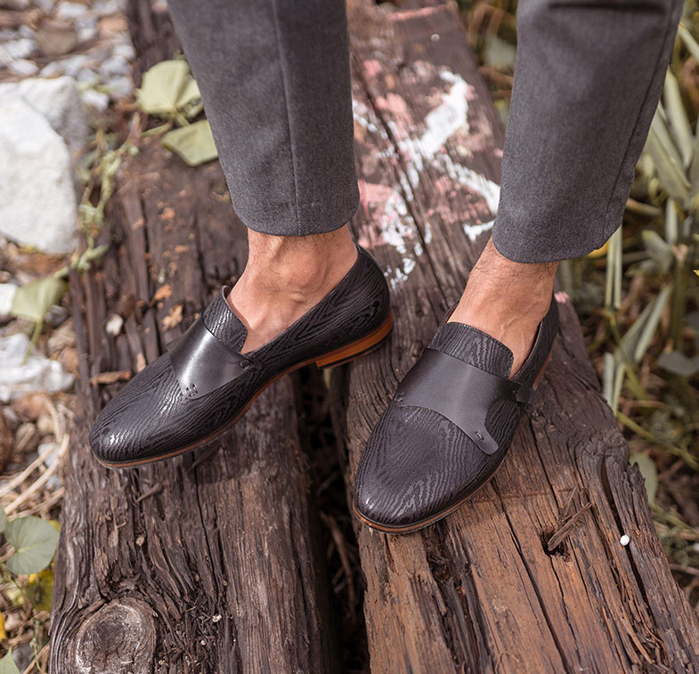 Fashion Men Formal Shoes Genuine Leather Classic Point Toe Slip on Men Shoes Dress Loafers Business Party Shoes in Formal Shoes from Shoes