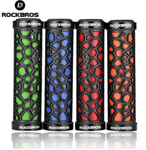 ROCKBROS Bike Grips MTB Bicycle Handlebar Rubber Lock-on Lightweight Anti-skid Shock-absorbing Cycling
