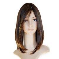 Кошерный еврейский парик европейские натуральные волосы прямые человеческие волосы парики шелковые верхние боковые челки Sheitel парик Беспл