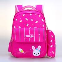 School Bags With Pencil case For Girls Boys Sweet Cartoon Princess Cartoon Children Backpacks Kids Bookbag Primary School Bag