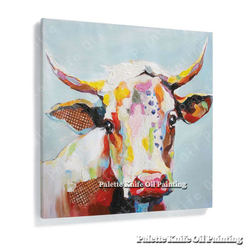 Cow Wall Art cow wall art canvas promotion-shop for promotional cow wall art