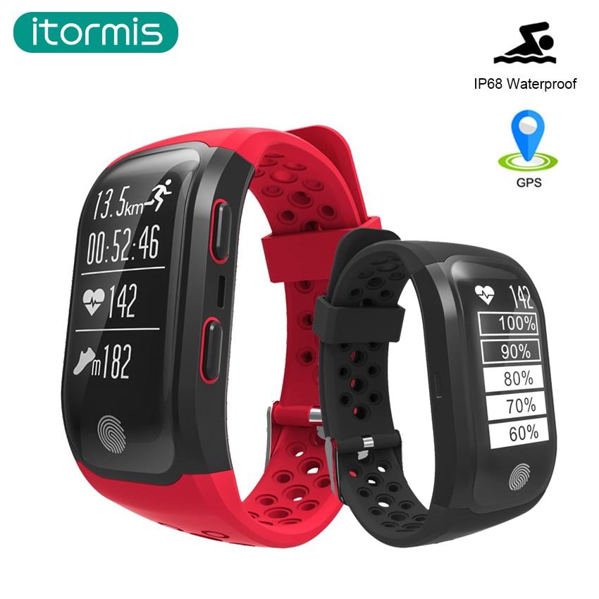 itormis GPS Smart Fitness Bracelet Wristband Smart Band Sports with Heart Rate Tracker Waterproof Pedometer PK Miband mi band 2 smart bracelet waterproof dw06 android watch gps sport band fitness tracker heart rate monitor pedometer wristband for men women