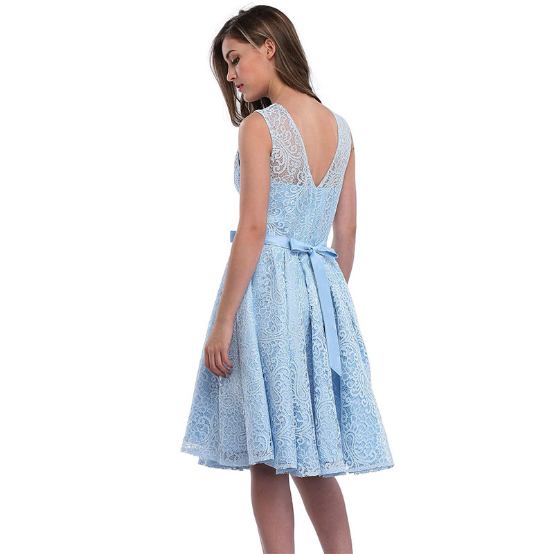 2b6ada7011 lace cocktail dresses for women knee length prom dresses for women  sleeveless cocktail dress lace wedding guest dress