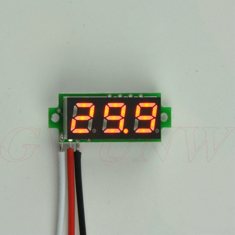GWUNW BY328V <font><b>DC</b></font> <font><b>0</b></font>-<font><b>30V</b></font> 3 bit digital Mini voltmeter Panel Meter Voltage Tester Meter image