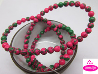 wholesale Free shipping fashion 180 PC 2 String 4mm natural Stone add color rose green Round Beads fit bracelet v1001