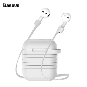 Baseus Silicone Case For Airpods Protective Case For Apple Airpods Charging Cover Coque With Anti Lost Strap For Airpod Air pods USB-флеш-накопитель