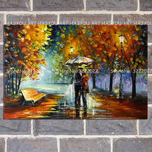 HASYOU 100% hand painted oil painting Home decoration high quality landscape knife pictures
