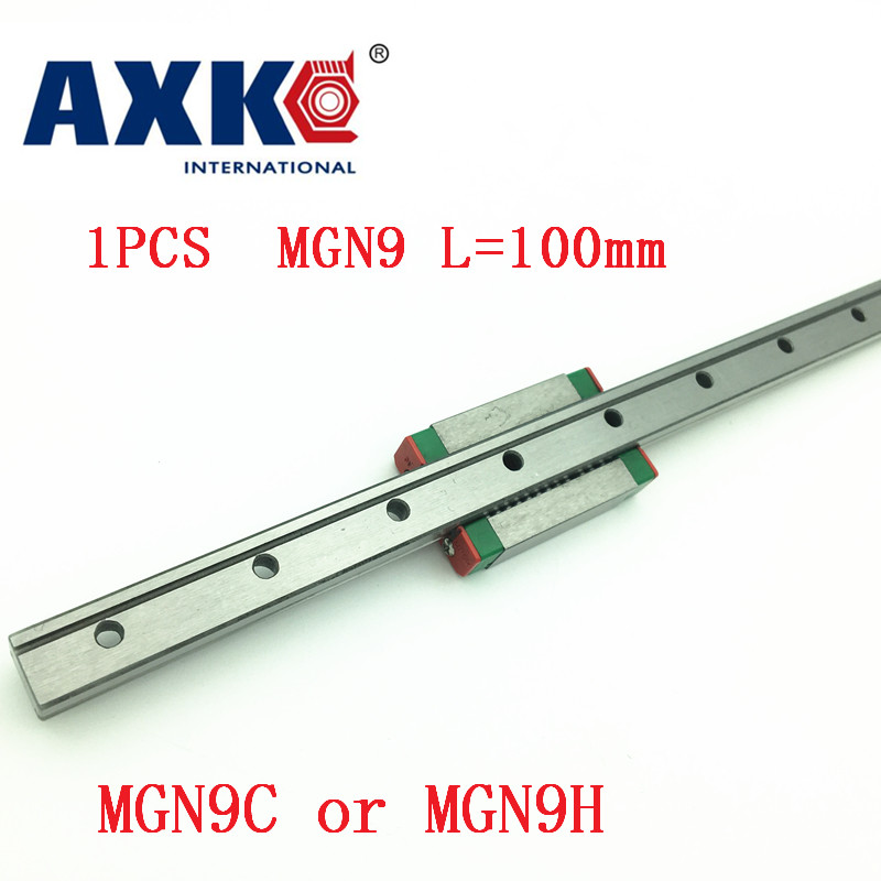 9mm Linear Guide Mgn9 L= 100mm Linear Rail Way + Mgn9c Or Mgn9h Long Linear Carriage For Cnc X Y Z Axis