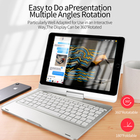 DUX DUCIS Wireless Keyboard Case for iPad 9.7 2018 2017 ABS Keyboard Tablet Cover for iPad 9.7 2018 2017 Pro 9.7 + Pencil Holder