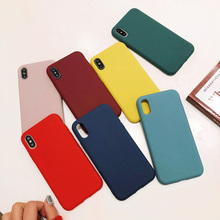Thick TPU case For iphone 6 6s plus Case Matte Plain Phone C
