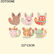 ZOTOONE Animal Patch Cartoon Iron-on Transfers Embroidery Patches For Children Clothing Heat Clothes Appliqued D