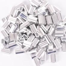 100 шт Упаковка премиум одиночные алюминиевые рукава для моноволокна такелажа Trace Leader Crimps 1,0 мм 1,2 мм 1,5 мм