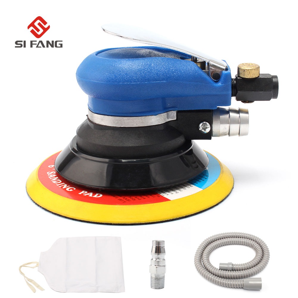 цена на 6'' inch 150mm Air Random Orbital Sander With Vacuum Pneumatic Sander Air Tool Polished Grinding Machine Hand Tool