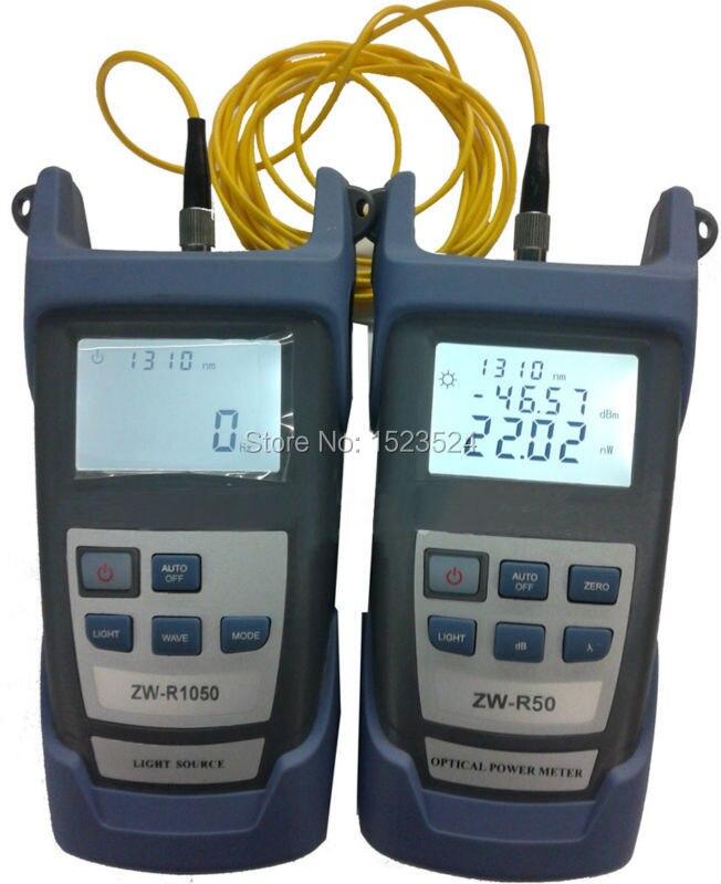bilder für Faser Optische Multimeter-50 ~ + 26dBm Handheld Fiber Optische Leistungsmesser + Faser Optische Lichtquelle 1310/1550nm