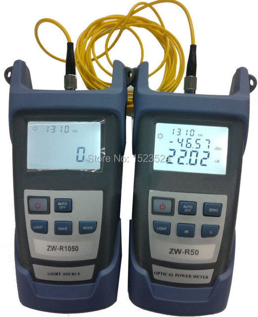 Fiber Optical Multimeter -50~+26dBm Handheld Fiber Optical Power Meter + Fiber Optical Light Source 1310/1550nm