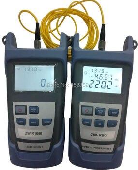Multímetro óptico de fibra-50 + 26dBm medidor de potencia óptica de fibra de mano + fuente de luz de fibra óptica 1310/1550nm