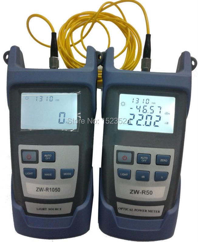 Multimètre optique de Fiber-50 ~ + 26dBm compteur d'énergie optique tenu dans la main de Fiber + Source lumineuse optique de Fiber 1310/1550nm