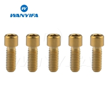 Wanyifa 5Pcs M4x10 13.5 15 20 25mm Small Stigma Titanium Bolt Screw for Bicycle front Brake