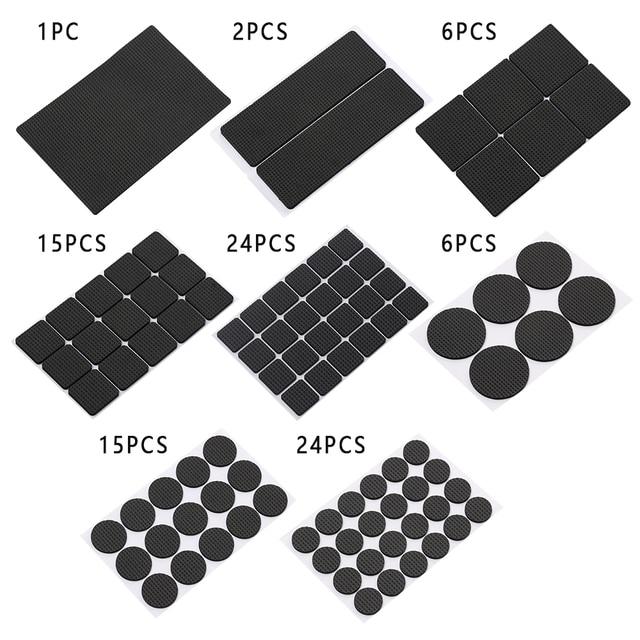 1-24PCS Thickening Self Adhesive Furniture Leg Feet Rug Felt Pads Anti Slip Mat Bumper Damper For Chair Table Protector Hardware 2