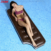 JIAINF Personal Air Mattresses Inflatable Chocolate Floating Rideable Swimming Pool Toy Float Raft for Diving Swimming For Adult