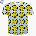 Mr.1991 newest arrived Europe and America style  Emoji 3D teens t-shirt summer style girls and boys tshirt children's tops DT22