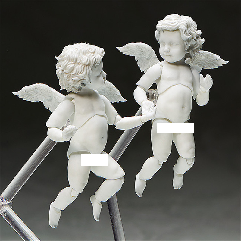 10CM Cute Cupid Action Figure Loves Child Angel Statue With Stand And Movable Joints Collectible Model Toys Brinquedos kingcamp child action 3834