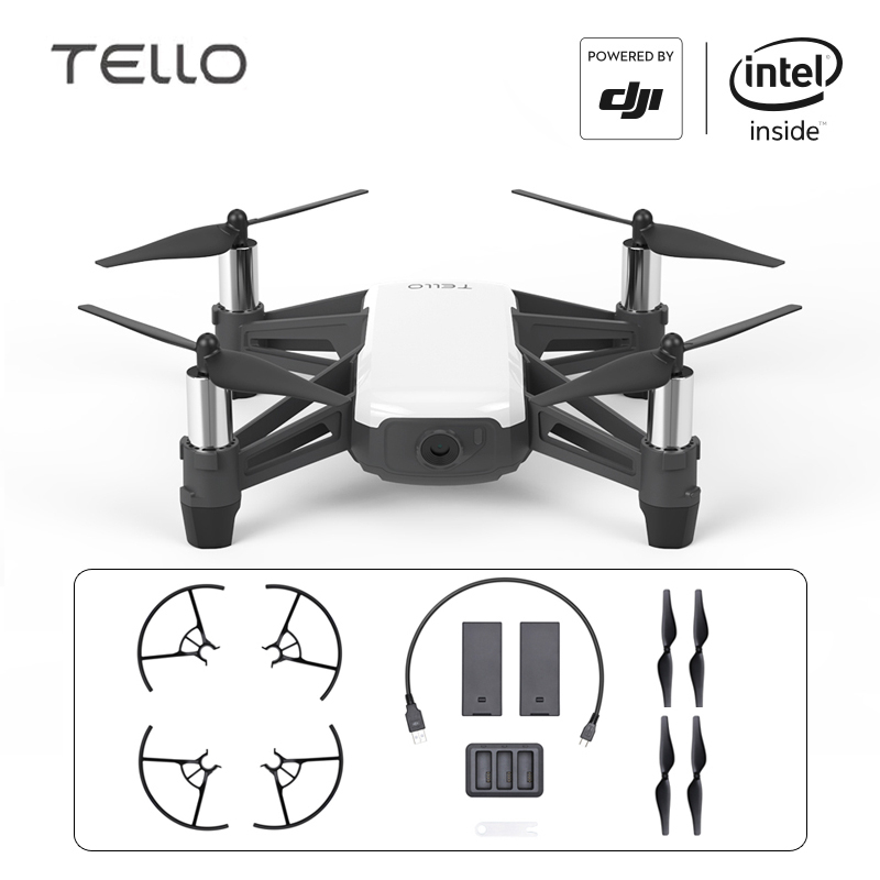 DJI Tello Drone Ryze mini jouet caméra Drone Drone avec Codage L'éducation 720 P HD Transmission quadrirotor FPV TÉLÉCOMMANDE