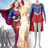 Supergirl Costume Marvel Superhero Series Superwoman Cosplay Fancy Dress Halloween Costumes For Adult Women Plus Size