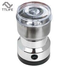 TTLIFE Ev Kahve Değirmeni Kahve Çekirdekleri Fındık Değirmeni Paslanmaz Çelik Akıllı Elektrikli Kahve Değirmeni Ev Mutfak Aracı
