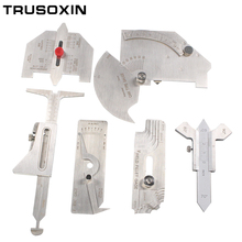 6PCS Welding Gauge Weld Inspection Gage Seam Bead/Fillet/Crown Test Ulnar Ruler Degree Angle Measure Kits Combine suit