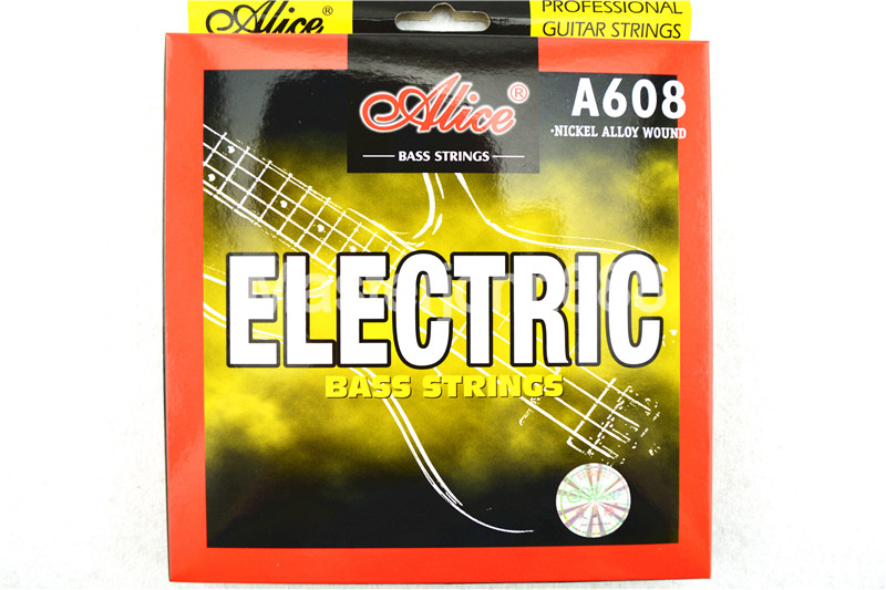 Alice A608-M Strings Bass Elektrik 4-String Hexagonal Corel & Alloy Nikel Luka 1-4 Strings Percuma Shippng