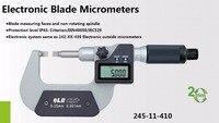 0.001mm eletrônico micrômetro micrômetros lâmina tipo A tipo B IP65 à prova d' água digital de medição rápida 0-25mm 25-50mm