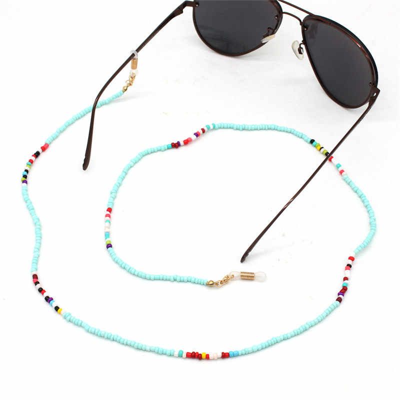 Colorful Little Acrylic Beads Chain Eyeglasses Chains for Reading Glasses Cord Sunglasses Strap Holder Neck Band Accessories