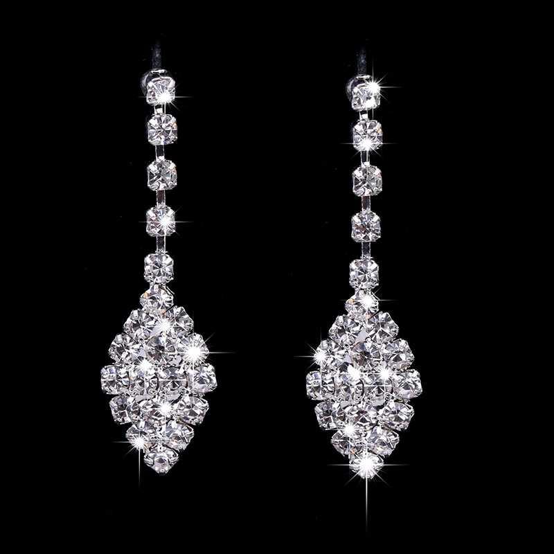 RNAFASHION Jewellery Elegant Thiết Kế Phụ Nữ Cưới Đồ Trang Sức Cô Dâu Vestidos Vòng Cổ Pha Lê Earring Top Chất Lượng Quà Tặng Cho Cô Dâu