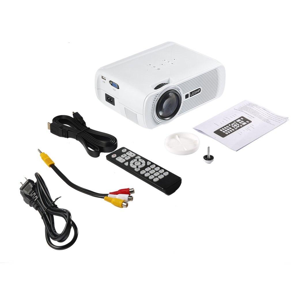 LESHP vidéoprojecteur LED multimédia Portable 1080P HD 1200 LM avec clé de voûte pour le cinéma maison de bureau jeu de télévision 1000:1