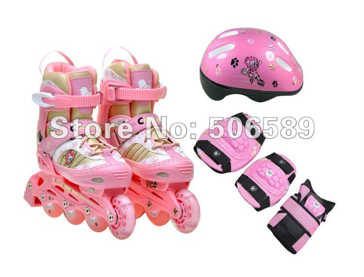 Hot sale! free shipping childrens roller skates pink and blue colorHot sale! free shipping childrens roller skates pink and blue color