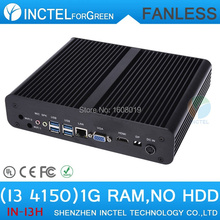 Industrial pc thin client fanless i3 4150 with Core i3 4150 3.5Ghz HDMI VGA display 1G RAM ONLY Windows Linux
