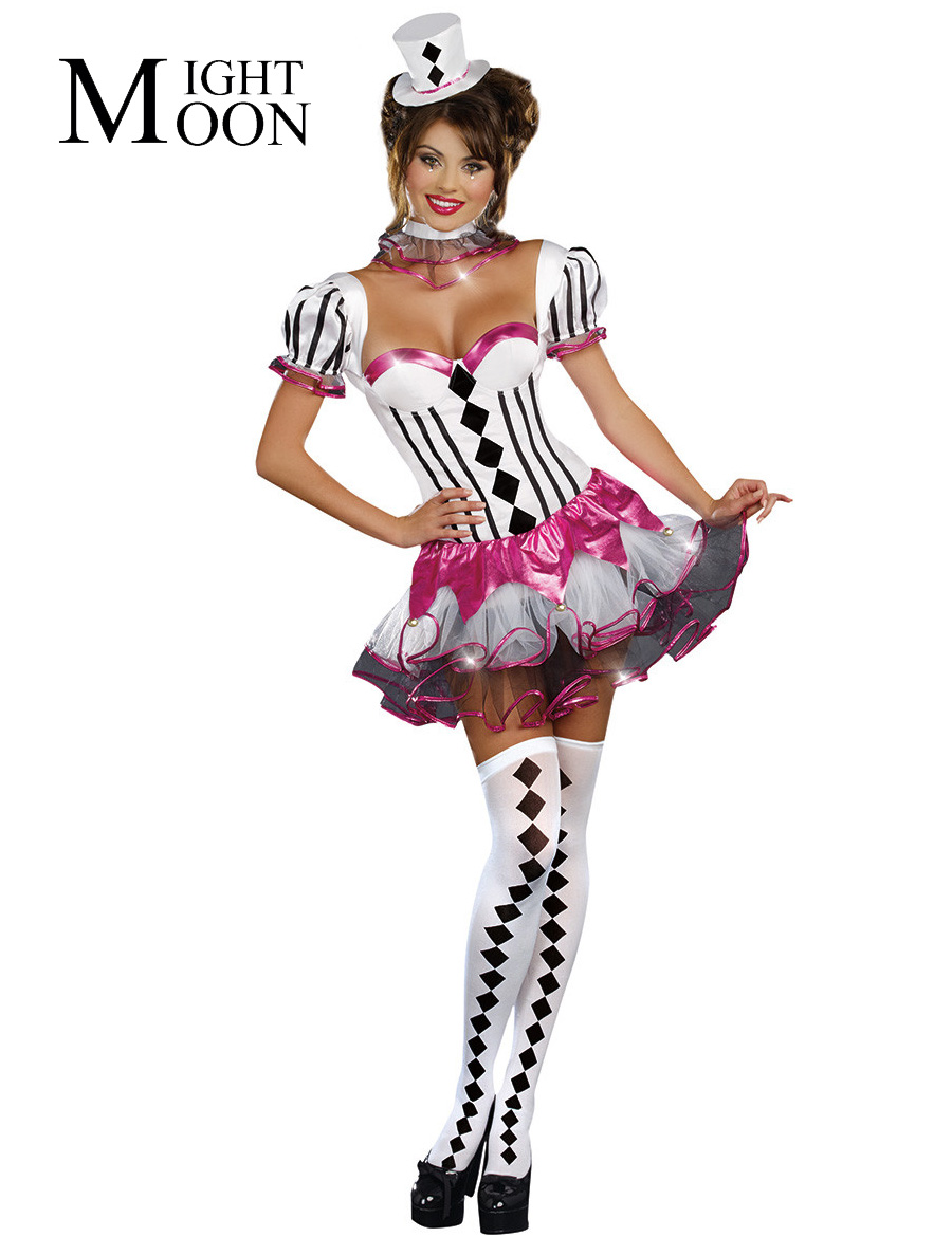 MOONIGHT 2019 Special New Adult Sexy Halloween Party Circus Costume Fancy Magician Cosplay Women Dress