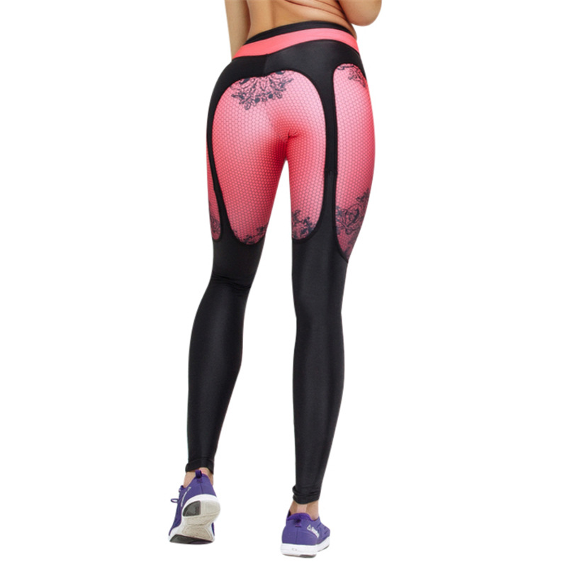 958c011a59a26e Zmvkgsoa Sexy Printed Leggings Women Fitness Clothing Booty Push Up Garter  Pattern Leggins Sporting Trousers Workout Pants Y2155