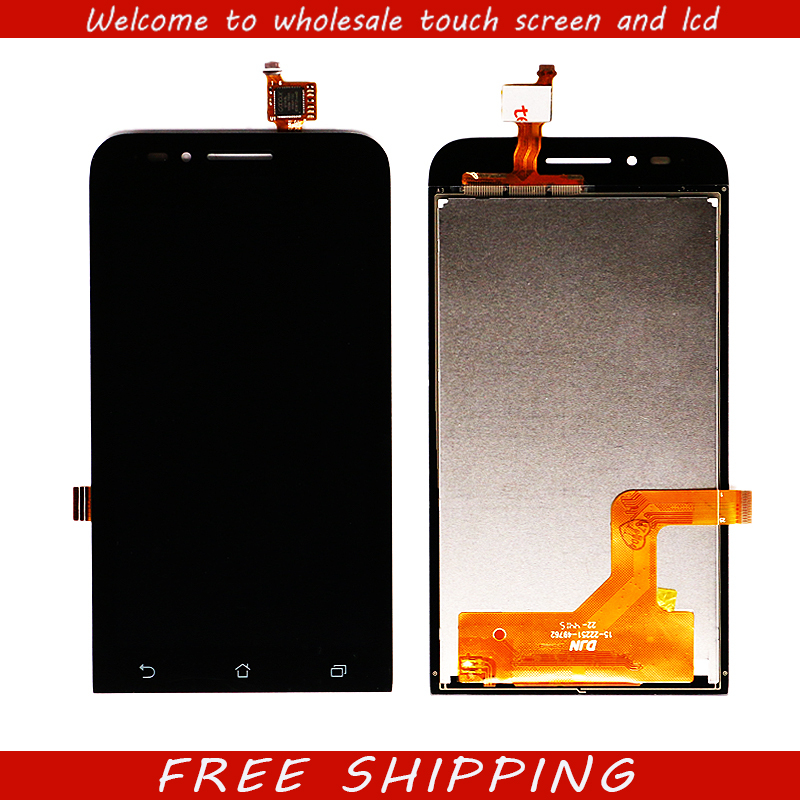 For ASUS Zenfone Go ZC451TG LCD Display Touch Digitizer Sensor Outer Glass Full Assembly 4.5'' 854*480 For ASUS ZC 451TG