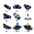 PV/PY/PE/PM/PK/HVFF/LSA 1 шт. T/Y/L/прямое пневматическое нажимное крепление для воздушных/водяных шлангов и трубчатых соединителей 4 мм 12 мм