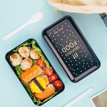 """1200 мл микроволновый Ланч-бокс для детей контейнер для еды """"японский бенто"""" контейнер для хранения еды портативный студенческий Ланчбокс с мешком для ланча 2 слоя"""