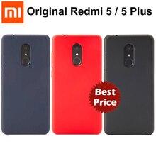 Coque dorigine Xiaomi Redmi 5/5 Plus coque de protection officielle Xiaomi coque de protection pour PC dur Fundas complet pour étui Redmi5/5 Plus