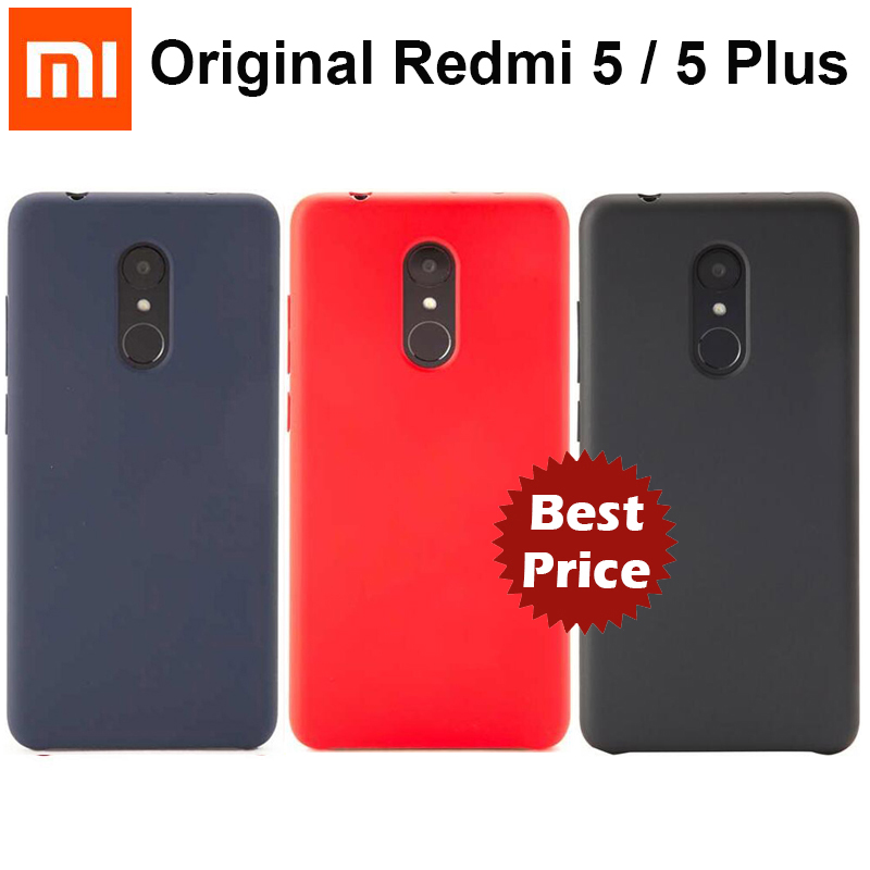 Original Xiaomi Redmi 5 / 5 Plus Case Official Xiaomi Protective Phone Cover Couqe Hard PC Full Fundas For Redmi5 / 5Plus Case-in Fitted Cases from Cellphones & Telecommunications