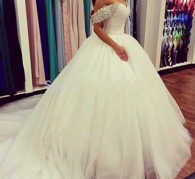 2015 Elegant Plus Size Spring Wedding Dresses Garden Met Gala Tulle Custom Made A Line Bridal Gowns